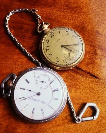 old watches time pieces with chain