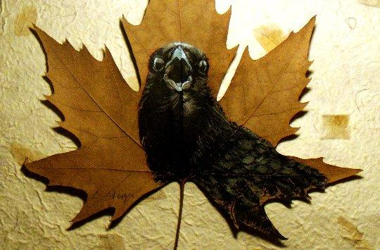 Crow, Painting by Cheryl Steiger