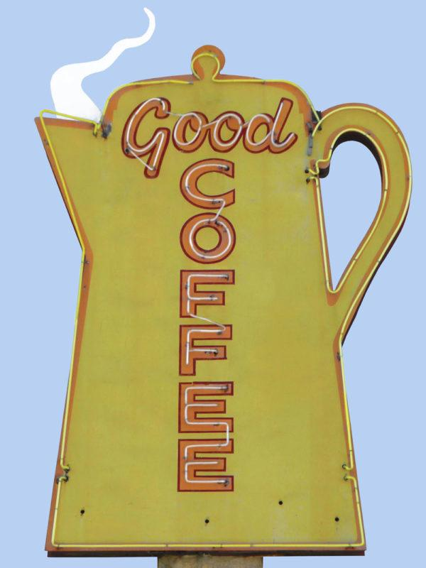 vintage good coffee sign photographed by Melissa Shuttlesworth